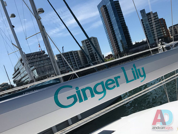 Ginger Lily Boom, Boat Name