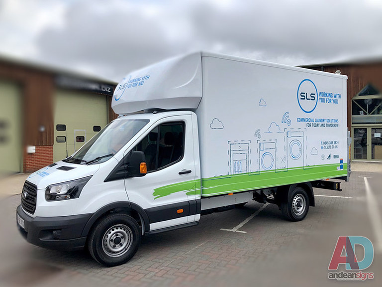 SLS Ford Transit Luton - vehicle graphics, wrap