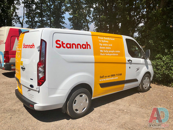 Stannah - Transit Custom Tourneo - Vehicle Graphics and Wrap