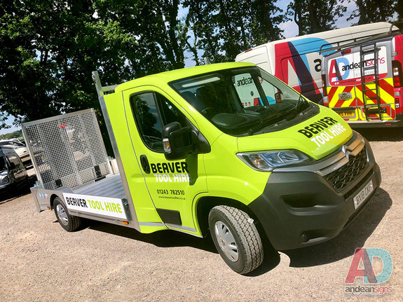 Beaver Tool Hire, Citroen Flatbed, vehicle graphics