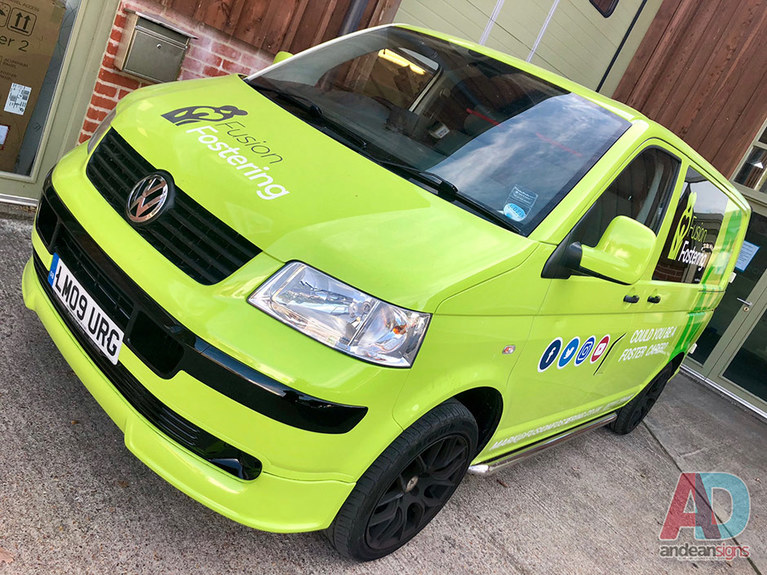 Fusion Fostering VW T5 wrap