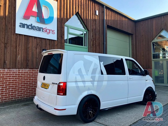 VW Transporter Sportline with VW decals