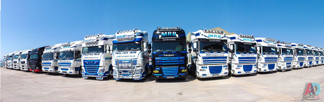 Mrb Transport Fleet with vinyl cut lettering and digitally printed graphics