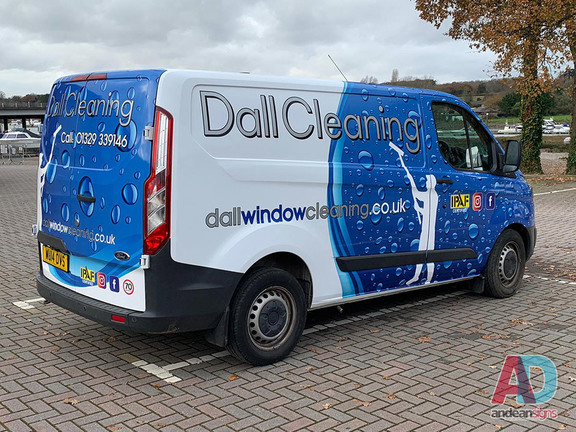 Ford Custom - Vehicle wrap - Dall Cleaning