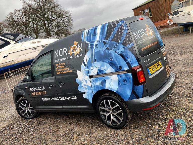 VW Caddy half wrap for Norjon