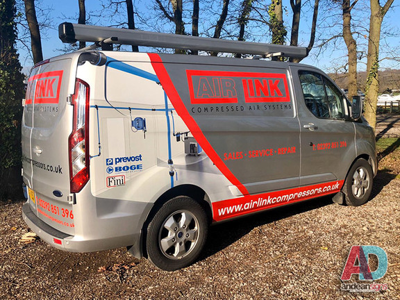 Ford Transit Custom. Digitally Printed Half Wrap with vinyl cut graphics
