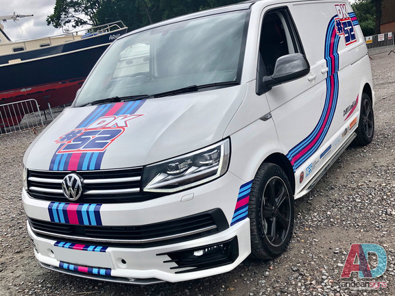 Volkswagen Transporter with a digitally printed motocross livery