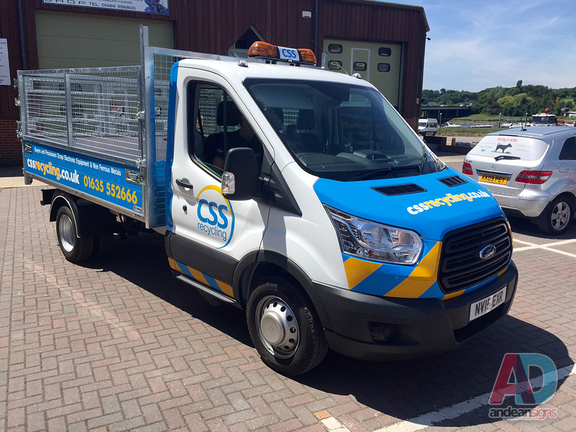 CSS Recycling - Ford Dropside Vehicle wrap