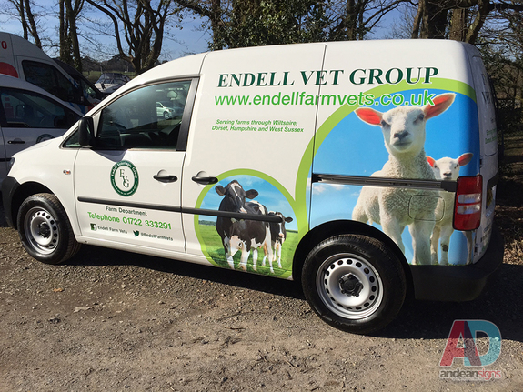 Endell Vet Group - VW Caddy Vehicle Graphics & Wrapping
