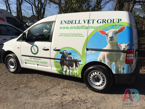 Endell Vet Group - VW Caddy Vehicle Graphics & Digitally Printed Wrap
