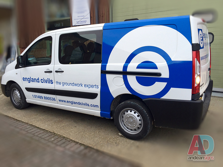 England Civils - Peugeot Expert vehicle graphics and wrapping