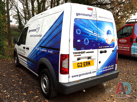 Germstar - Ford Connect  vehicle graphics & vehicle wrapping