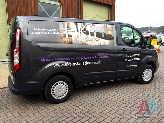 HKB Transit Custom, with digital print and vinyl cut graphics
