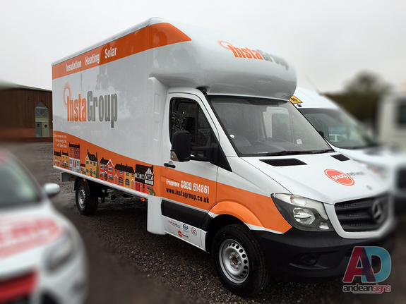 Instagroup - Mercedes Luton Van - Vehicle Graphics, Vehicle Wrapping