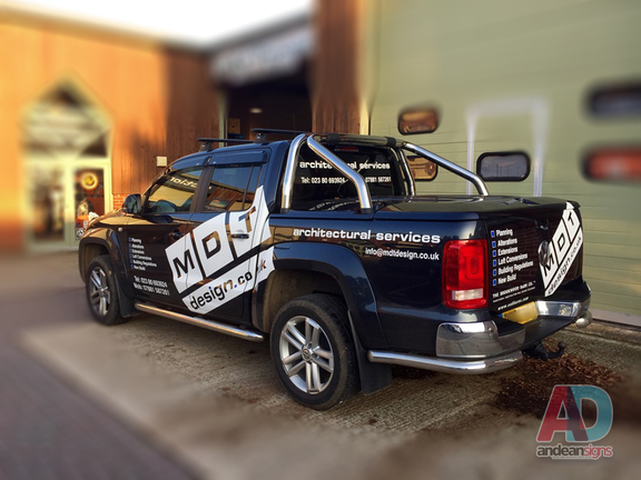 MDT Design - VW Amarok cut vinyl vehicle graphics