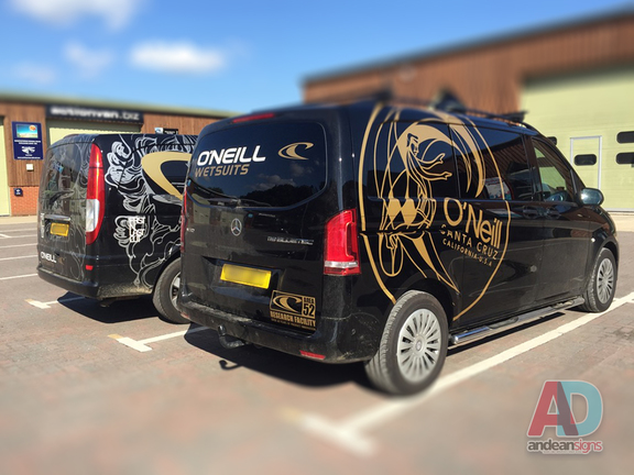 O'Neill wetsuits - Metallic Gold Cut Vinyl Graphics