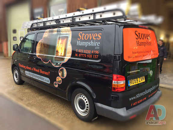 Stoves Hampshire - VW T5 Vehicle graphics & Wrapping
