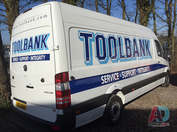 Toolbank - Mercedes Sprinter Vehicle Graphics