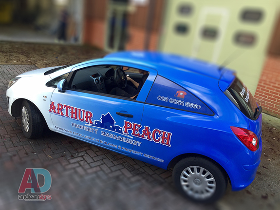 Arthur Peach - Vauxhall Corsa complete vehicle wrap