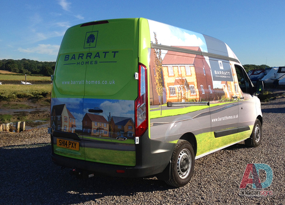 Barratt homes - full wrap with digitally printed media