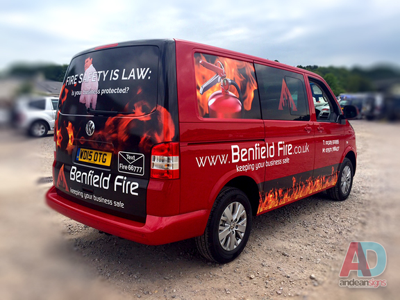Benfield Fire - VW T5, vehicle graphics and wrapping