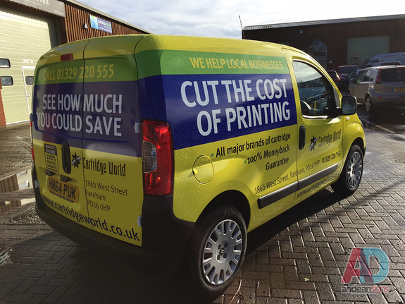 Cartridge World - Citroen Nemo complete vehicle wrap