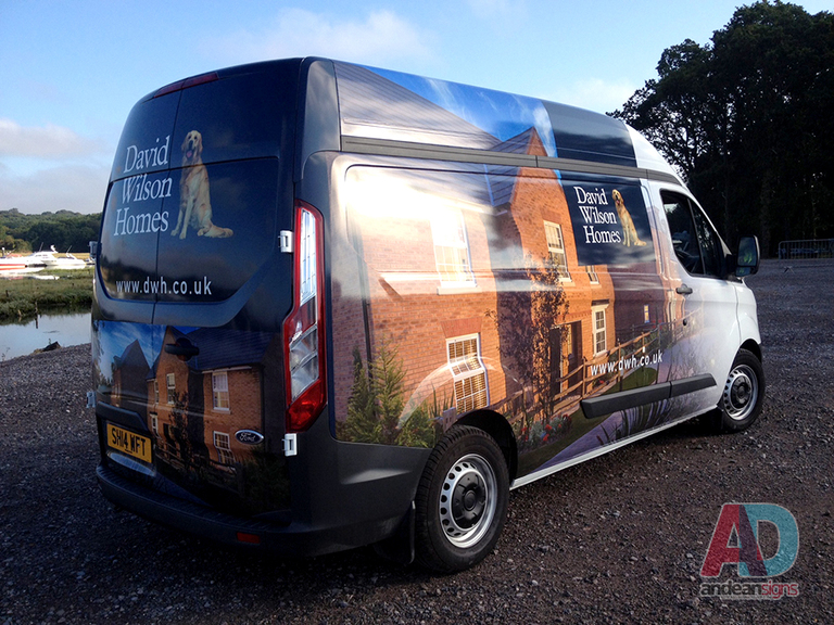 David Wilson Homes - Ford Custom complete vehicle wrap