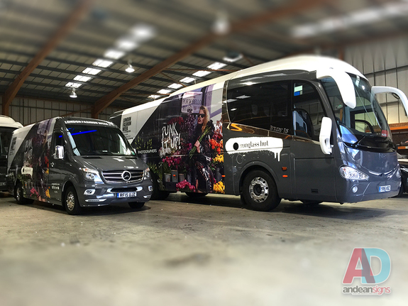 Cndon Fashion week - Mercedes Sprinter, complete vehicle wrap , clearvision applied to windows