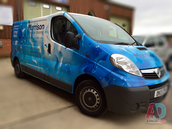 Vauxhall Vivaro complete  printed wrap, with cut vinyl vehicle graphics