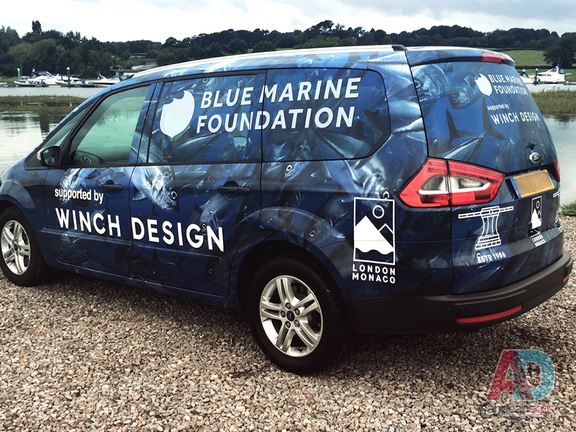 Winch Design - Ford Galaxy, complete printed laminated vehicle wrap, with cut vinyl graphics