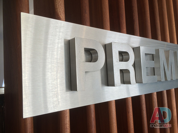 Premier Marinas - Built up Stainless Steel letters with invisible fixings