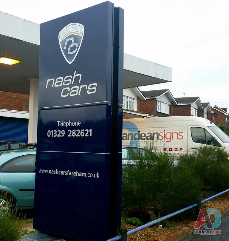 Nash Cars - Vinyl Wrapped Refurbished Existing Signage