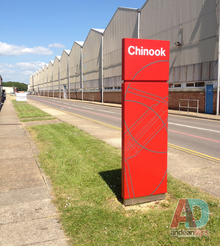 Vinyl Wrapped Monolith sign - Refurbish project