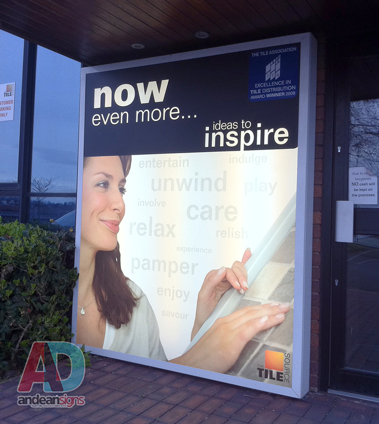 Illuminated Light box, Full colour print with lamination