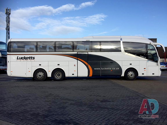 Lucketts Coaches - Scania -  vehicle graphics