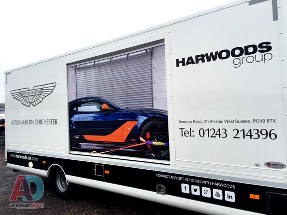Harwoods Group - Shutters wrapped, cut vinyl and printed overlays