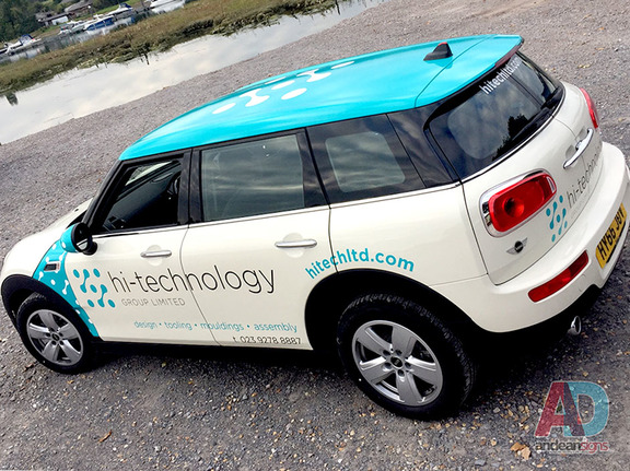 Hi-technology - Mini Clubman, roof wrap and cut vinyl vehicle graphics