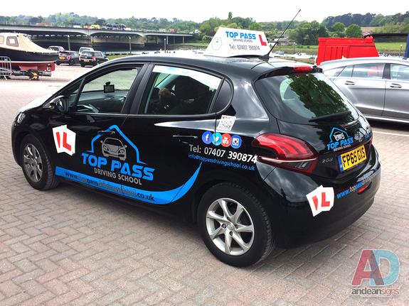 Top Pass Driving School - Avery 800 Cut vinyl vehicle graphics