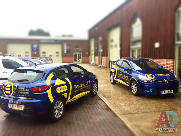 Tenant Link - Renault Clio - Cut vinyl vehicle Graphics
