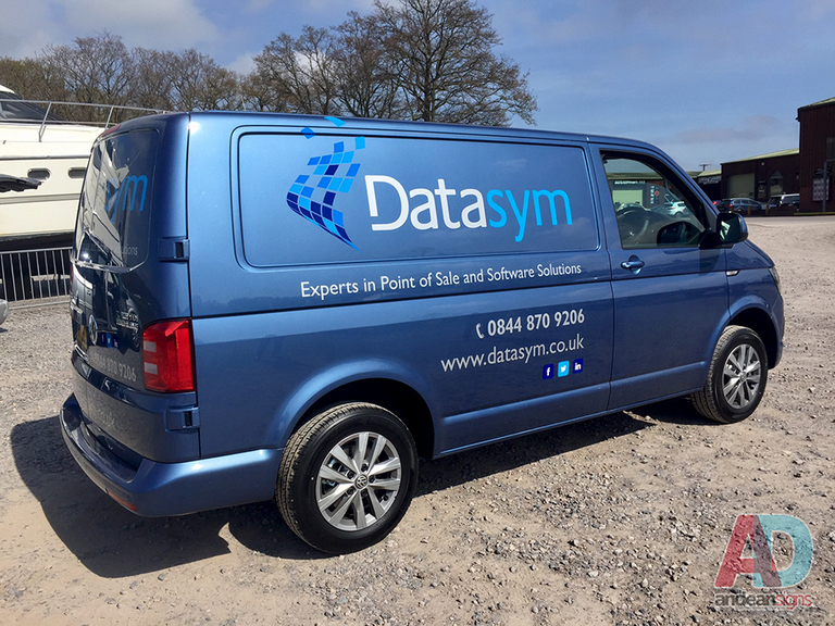 Datasym - VW T5 cut vinyl vehicle graphics