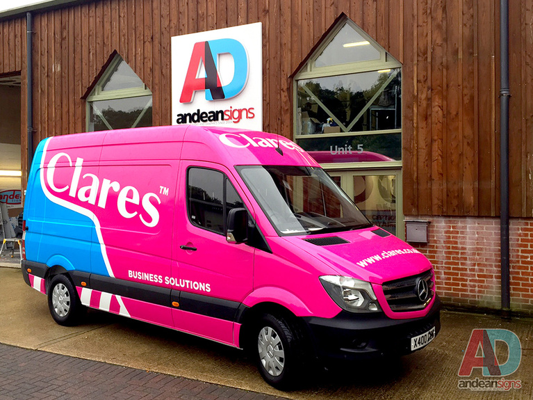 Clares - Mercedes Sprinter, complete vehicle wrap