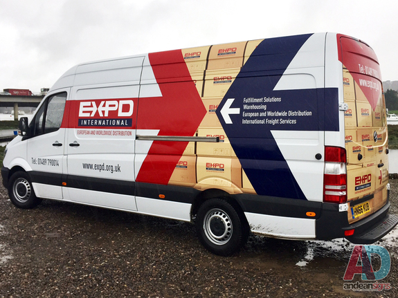 EXPD - Mercedes Sprinter, printed vinyl graphics, rear door wrap