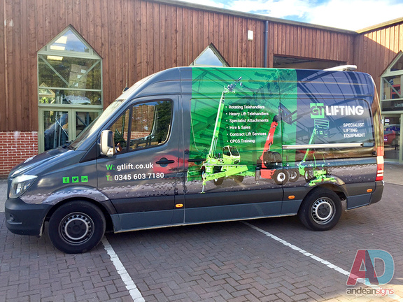 GT Lifting - Mercedes Sprinter complete vehicle wrap