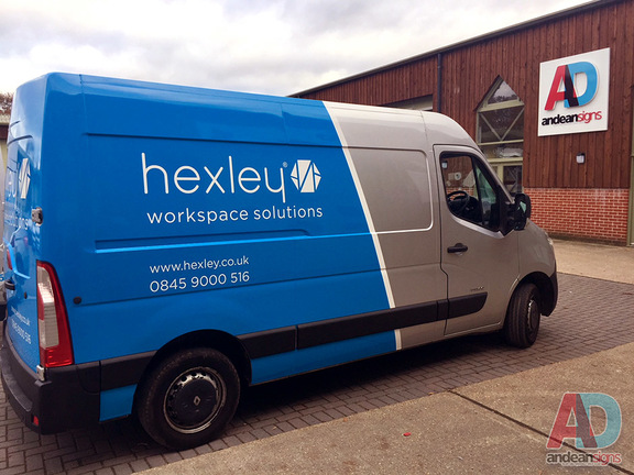 Hexley - Renault Master, half vehicle wrap