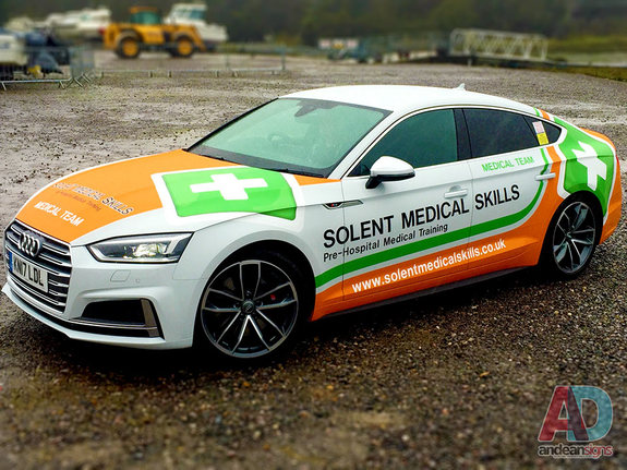 Audi S5 - vehicle wrapping and vinyl and printed graphics