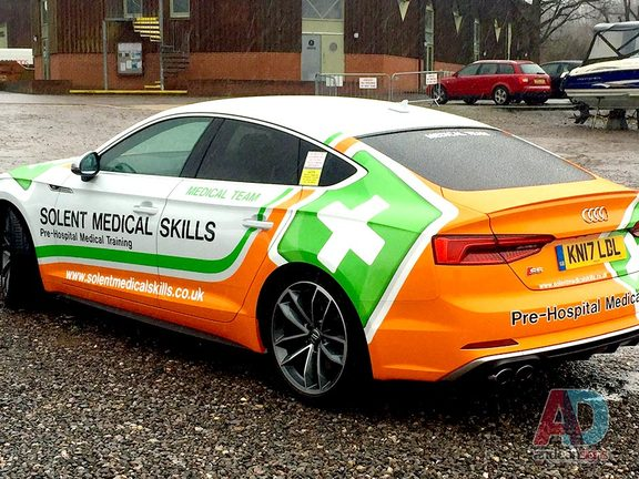 Audi S5 Vehicle wrapping and vinyl and printed graphics
