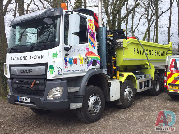 Raymond Brown Daf Tipper Truck, cab wrap